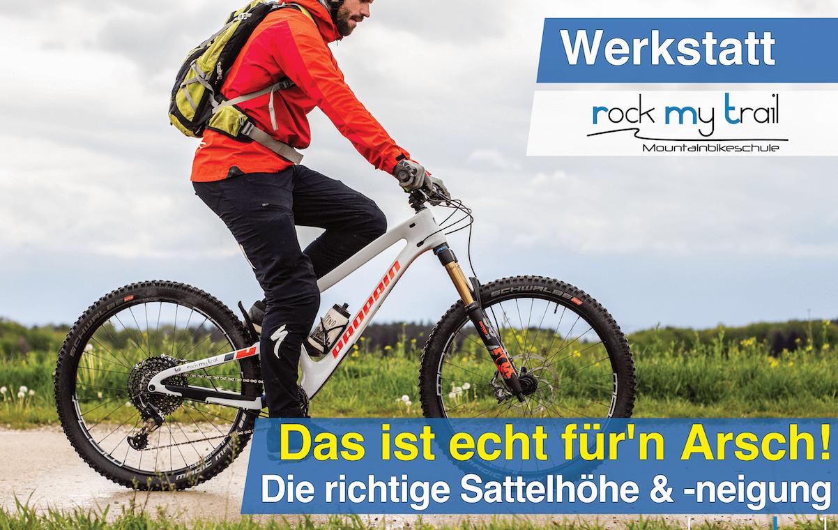 Richtige Sitzposition beim MTB, Mountainbike Einstellungstipps, Sattelhöhe MTB, Sattelhöhe Mountainbike, Sattelneigung MTB, Sattelneigung Mountainbike, MTB Sitzposition, Mountainbike Sitzposition