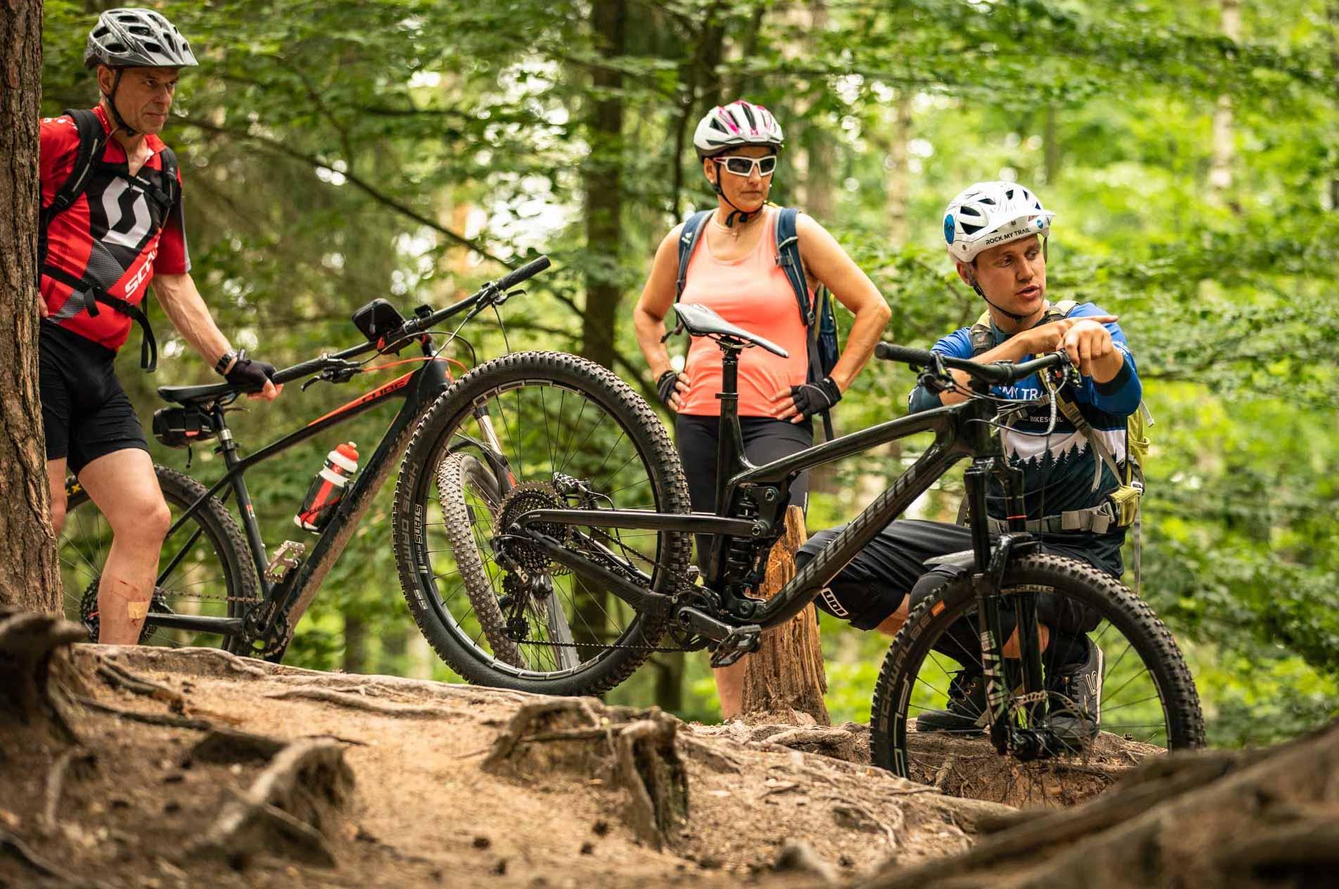 MTB Fahrtechnik Kurs für Einsteiger in Heidelberg - Rock my Trail - Mountainbike Kurs-