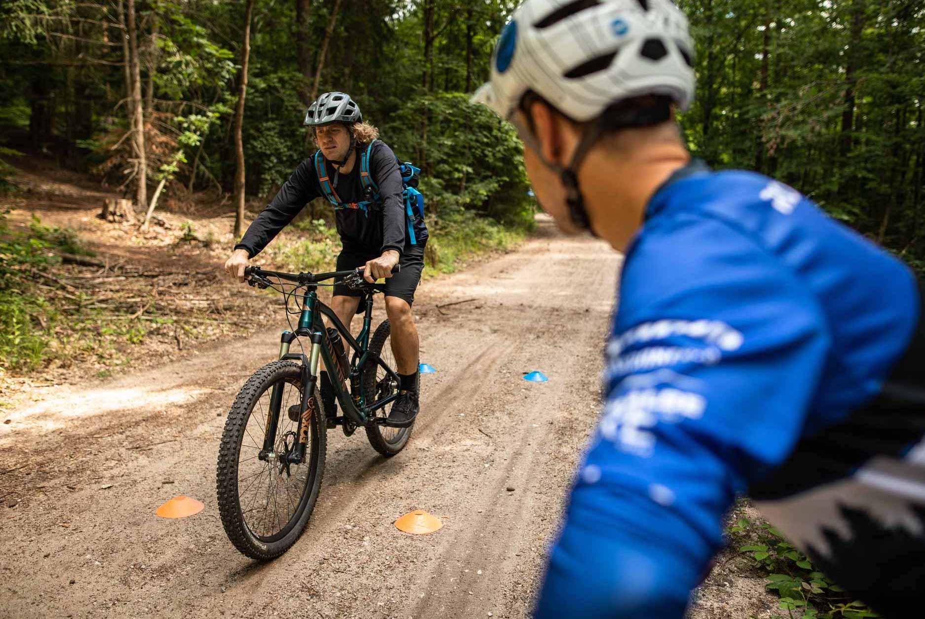 MTB Fahrtechnik Kurs für Einsteiger in Witten - Ruhrgebiet - Mountainbike Basic Ruhrgebit Trail Anfänger - Rock my Trail Bikeschule GmbH