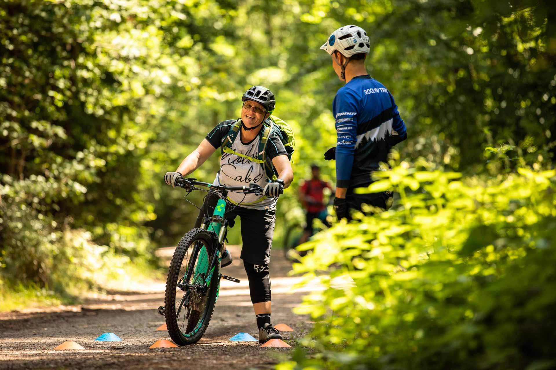 MTB eBike Fahrtechnik Kurse NRW Training Einsteiger , Fortgeschritten, Experten Rock my Trail Bikeschule