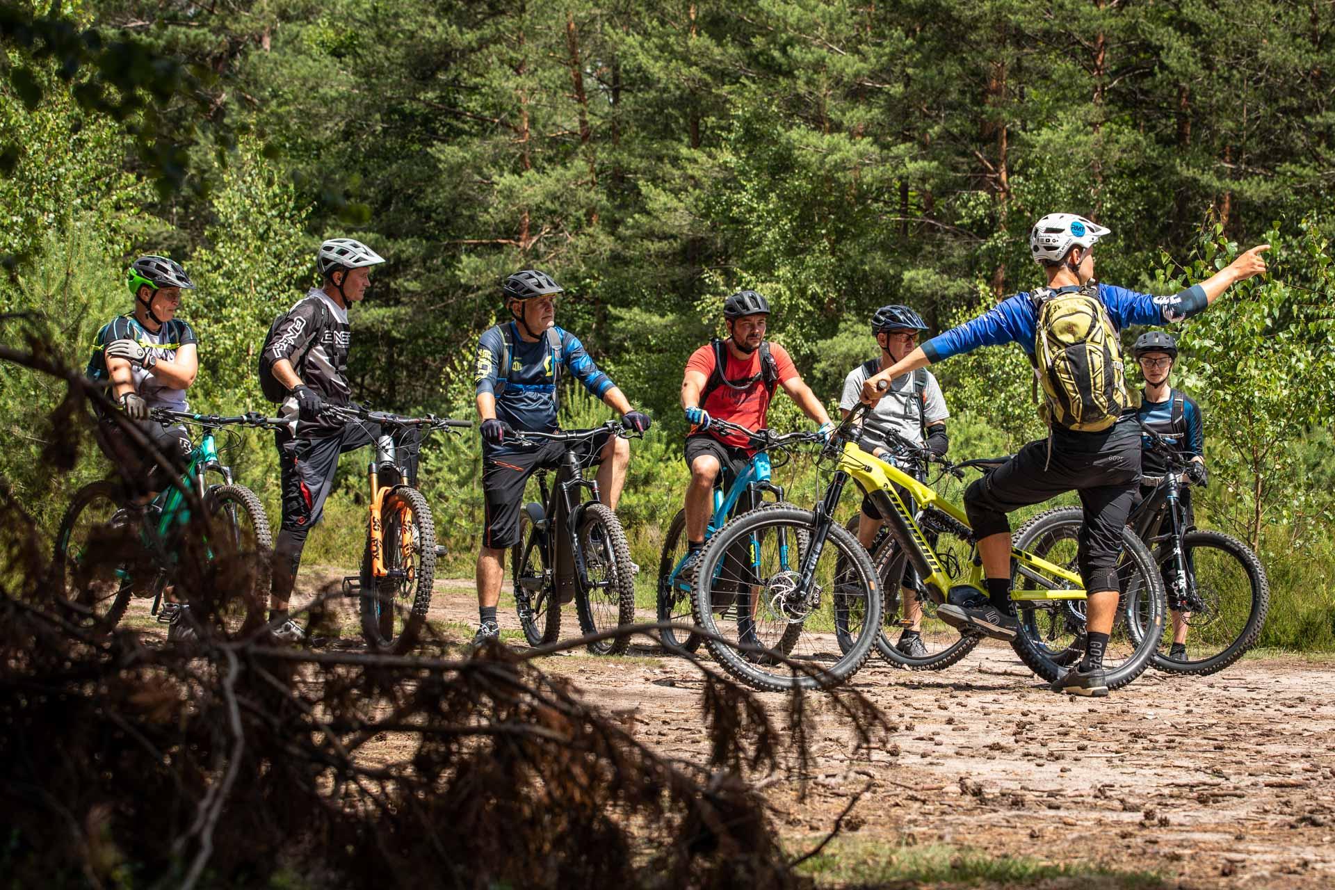 eBike Test Erlebnis eMountainbike fahren probieren Gummersbach NRW Trainer eMTB testen Rock my Trail Bikeschule