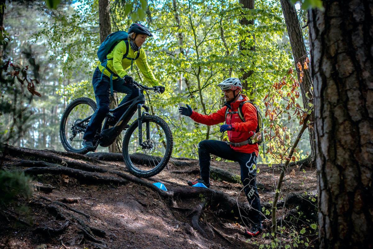 eMTB Basic Fahrtechnik Kurs Darmstadt Rock my Trail Bikeschule