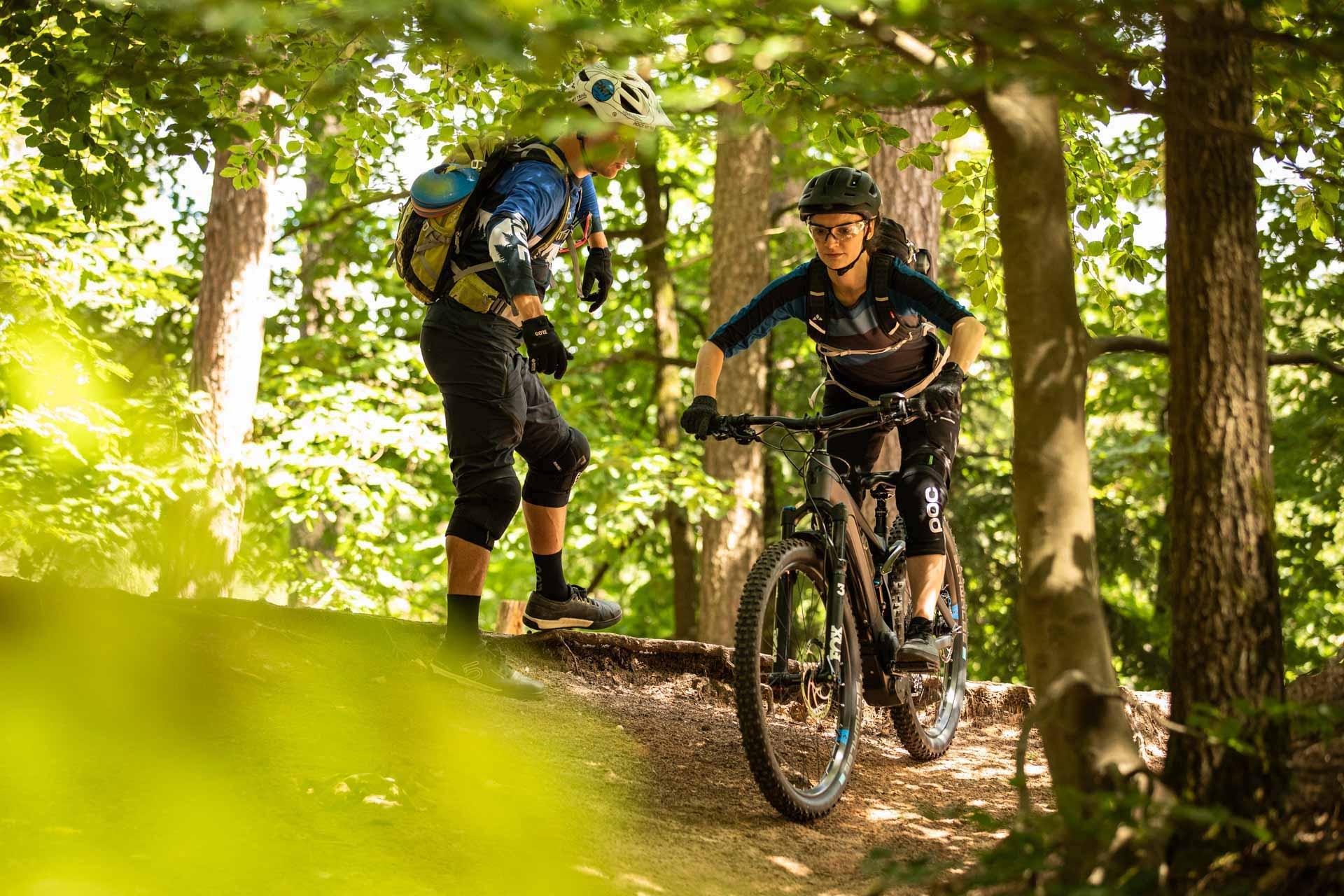 eMTB Einsteiger Fahrtechnik Kurs Pforzheim - Mountainbike Training - Rock my Trail Bikeschule