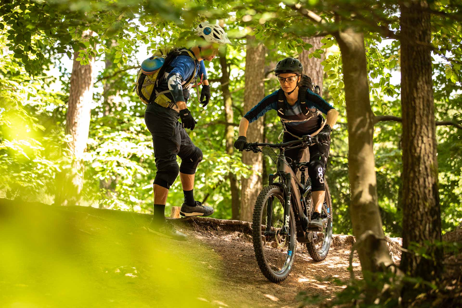 eMTB Fahrtechnik Einsteiger Kurs Kassel Nordhessen Weltkulturerbe Kaufungerwald - Fahrtechnik Training Rock my Trail Bikeschule