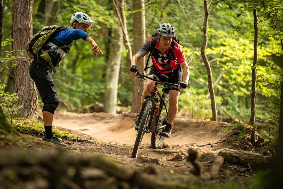 MTB Fahrtechnik Kurs Fortgeschrittene in Hamburg - Harburger Berge Norden - Mountainbike Fortgeschritten - Rock my Trail Bikeschule - 20