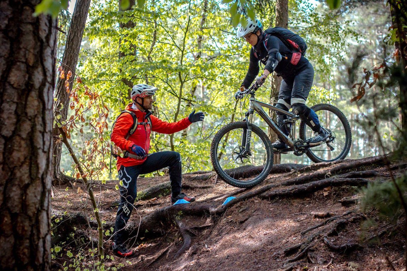 MTB Fahrtechnik Kurs Fortgeschrittene in Hamburg - Harburger Berge Norden - Mountainbike Fortgeschritten - Rock my Trail Bikeschule - 5