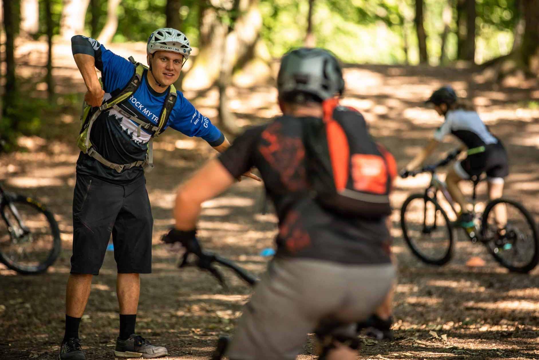 MTB Fahrtechnik Kurs für Einsteiger in Weiskirchen |Hochwald Hunsrück Saarland- Mountainbike Basic - Rock my Trail Bikeschule