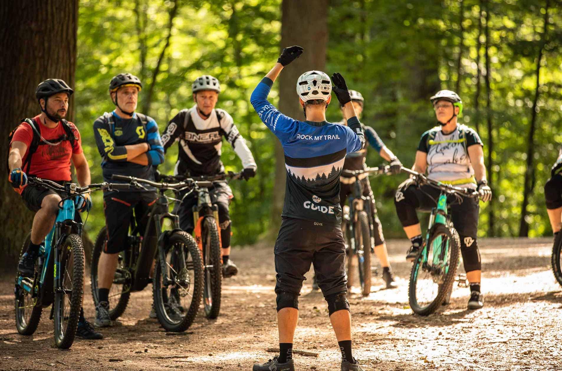 MTB Fahrtechnik Kurse Düsseldorf eBike Training Trails Stadtwald Rock my Trail Bikeschule -1