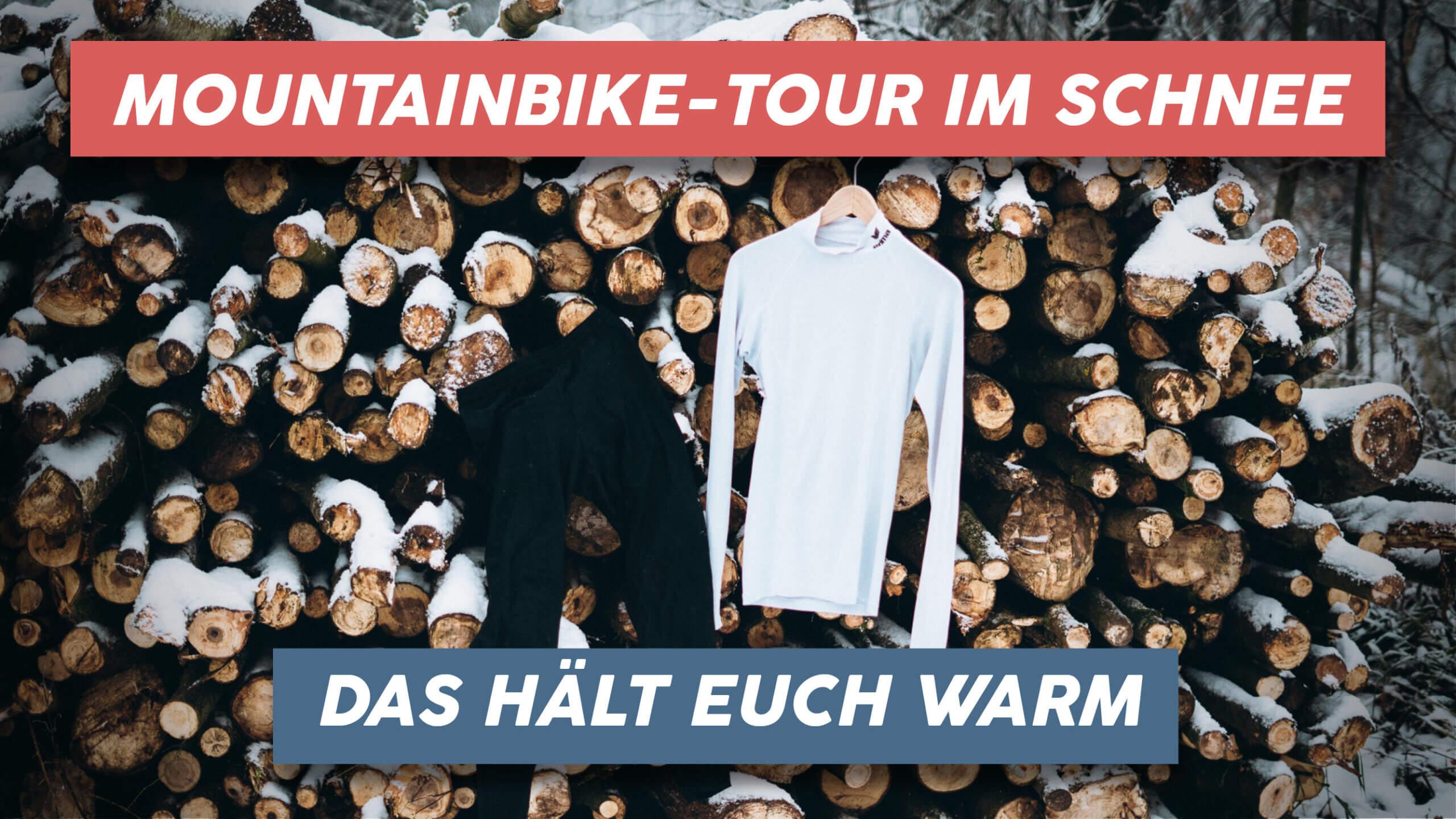 Mountainbike Tour im Schnee