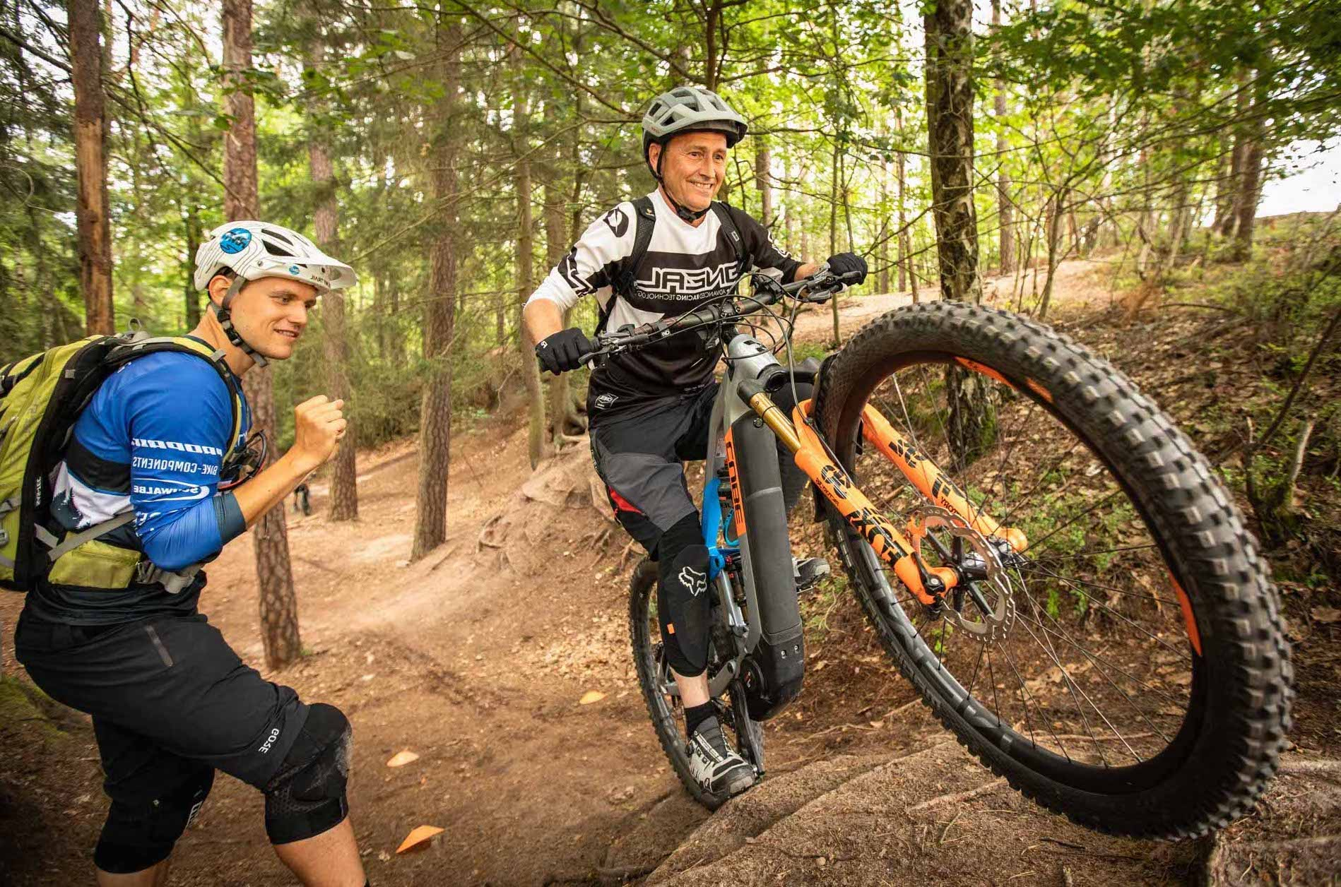 Mountainbike eBike MTB Fahrtechnik Kurse in Esslingen - Stuttgart - Training Rock my Trail Bikeschule