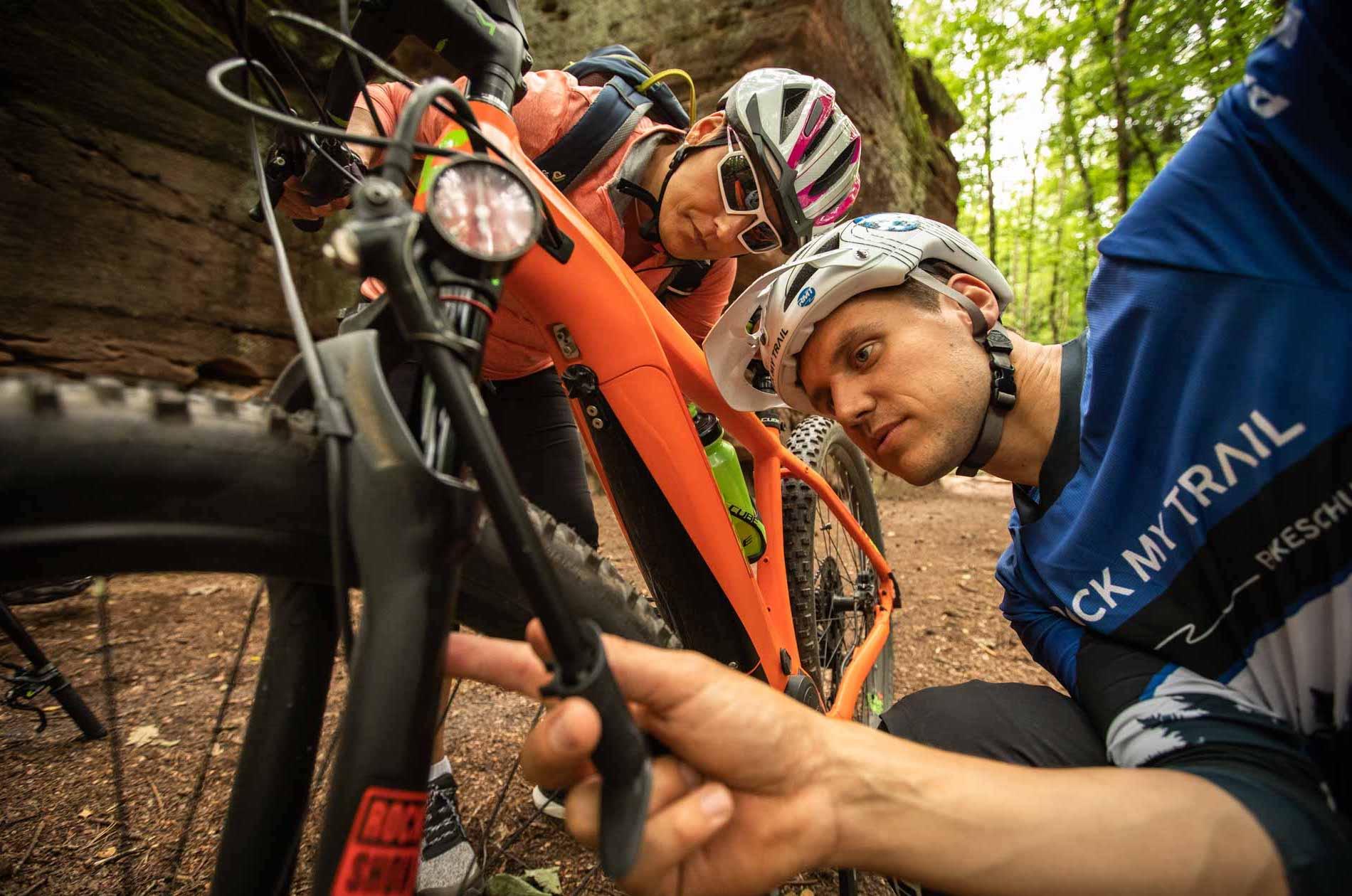 eMTB Einsteiger Fahrtechnik Kurs Solingen - Mountainbike Training - Rock my Trail