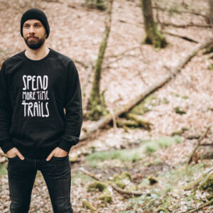 spend more time on trails tshirt pullover hoodie rockmytrail