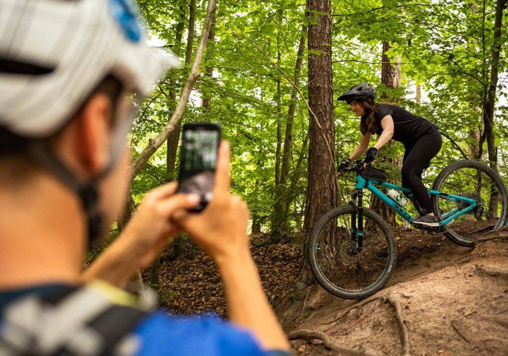 MTB Fahrtechnik Kurs für Einsteiger in Darmstadt - Mountainbike Basic - Rock my Trail Bikeschule