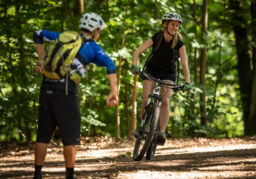 MTB Fahrtechnik Kurs für Einsteiger in Düsseldorf - Mountainbike Basic - Rock my Trail Bikeschule - 15