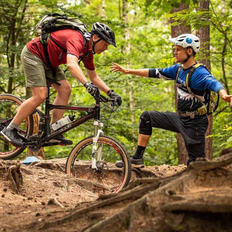 MTB Fahrtechnik Kurs für Einsteiger in Solingen - Mountainbike Basic - Rock my Trail Bikeschule